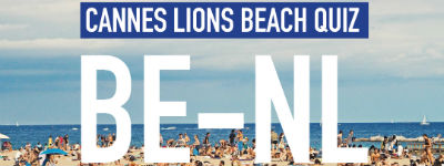 ADCN, Creative Belgium en Persgroep organiseren Beach Quiz in Cannes