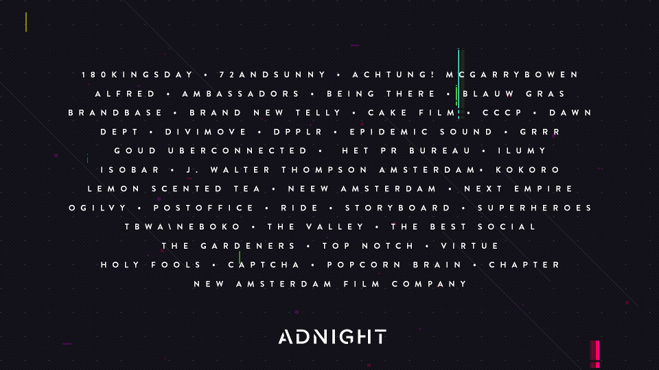 Adnight presenteert diverse line-up