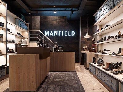 behalve het interieur van de manfield winkels zijn ook de winkelpui de schoenendoos en de grafische uitingen vernieuwd