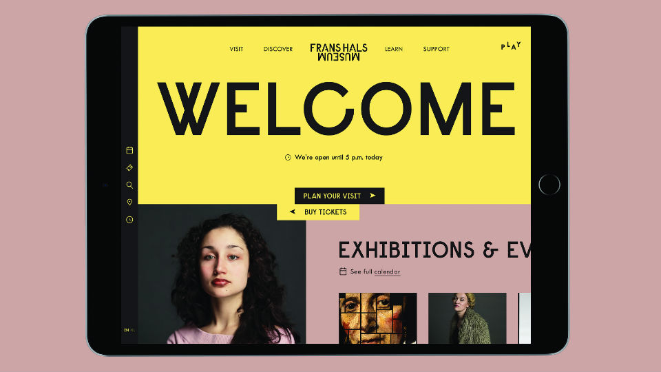 [designpanel] Website Frans Hals Museum door Build In Amsterdam