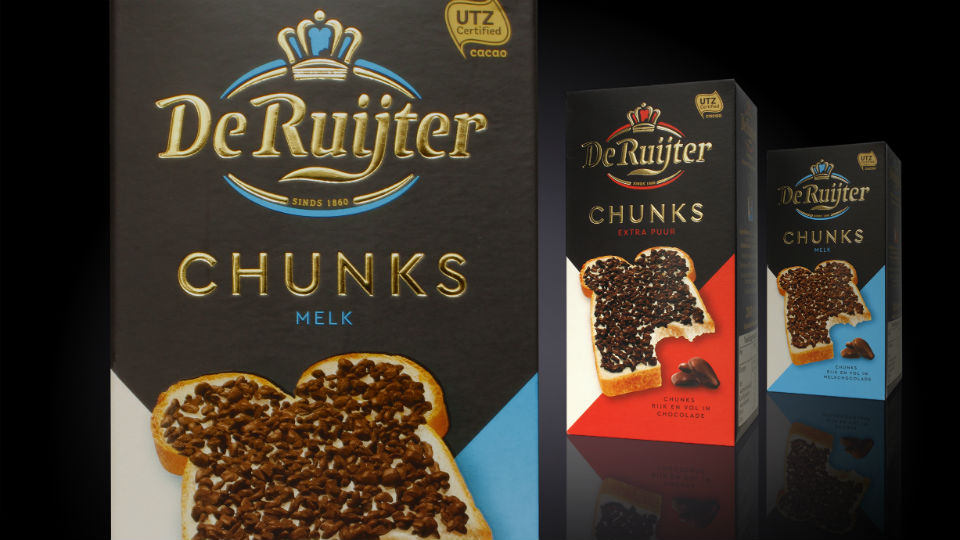 Mountain ontwikkelt packaging De Ruijter Chunks