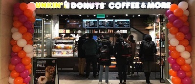 Dunkin' Donuts opent op Centraal Station Amsterdam