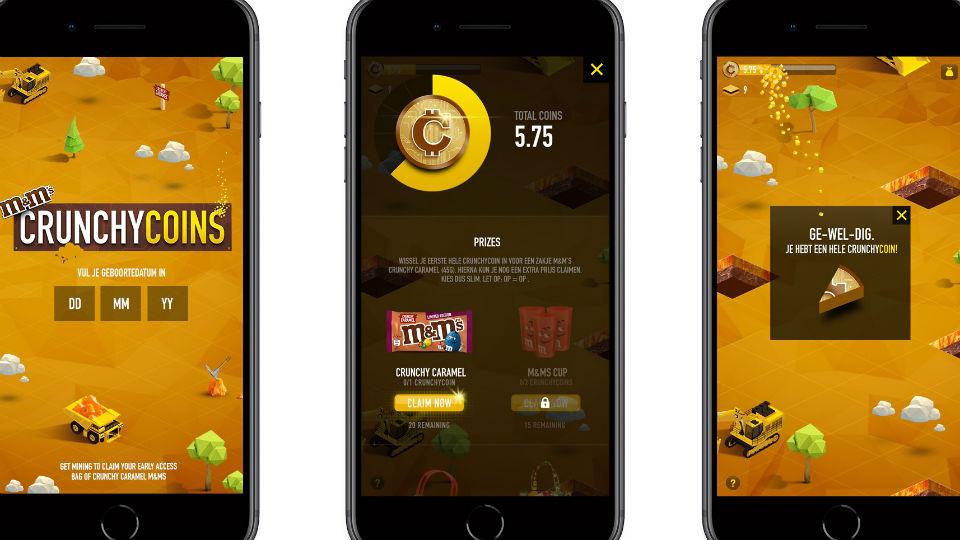 M&M's Crunchy Caramel veroorzaakt goudkoorts op nieuwe digitale munt